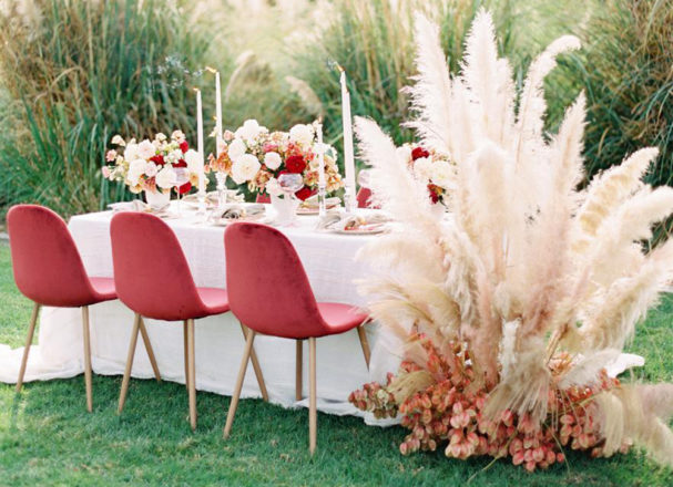 Featured Image for How to use pampas grass on your wedding day
