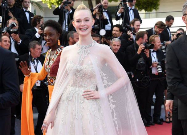 Featured Image for Elle Fanning wears wedding dress at Cannes Film Festival