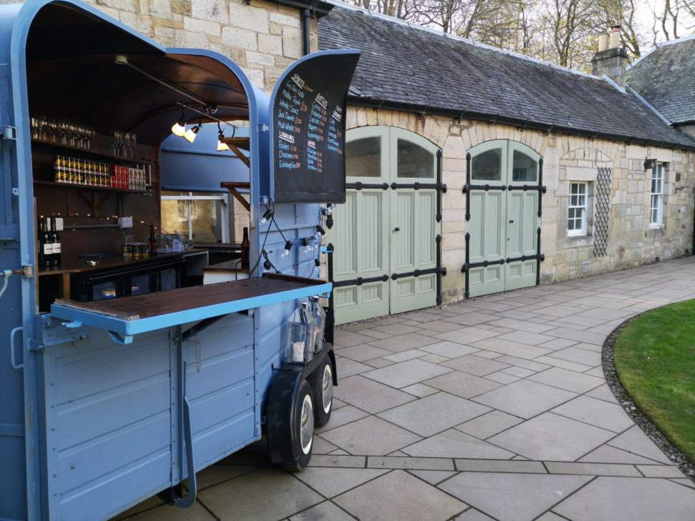 Mobile bar to hire wedding Fife