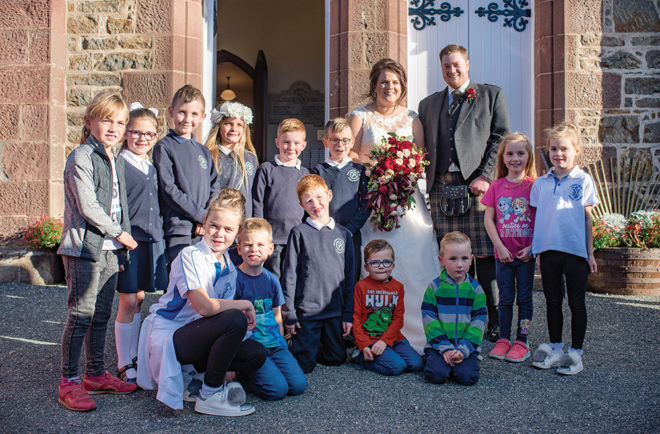 Featured Image for The cute moment these primary pupils surprised their teacher at her wedding