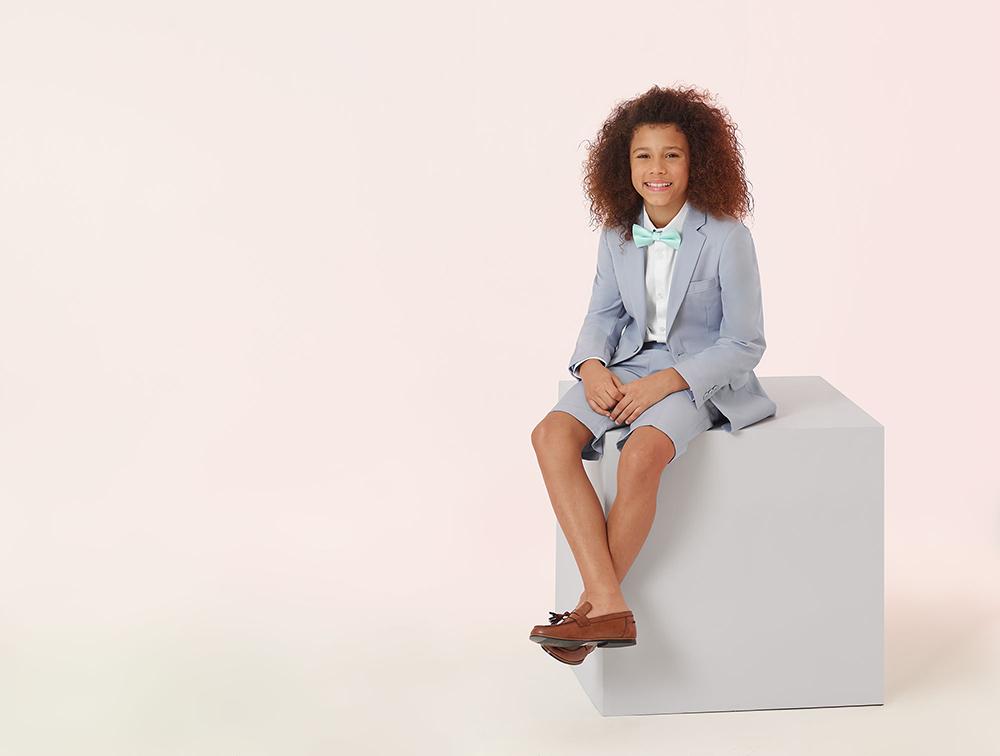 Jackson Pale Blue Short Suit - Roco Clothing