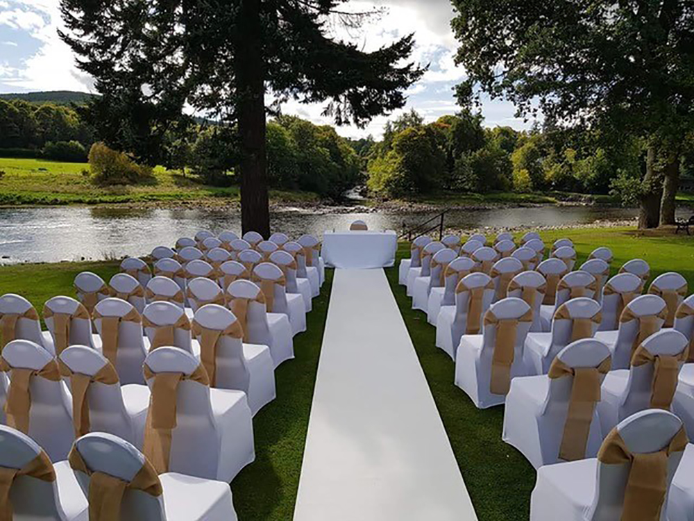 outdoor ceremony - Banchory Lodge