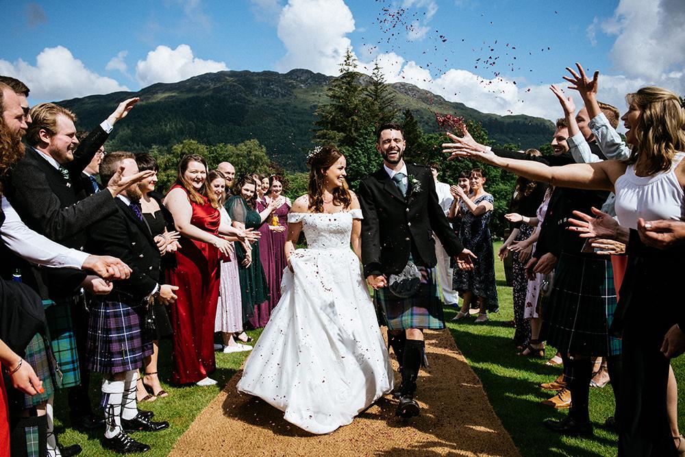 confetti - The Lodge at Carrick Castle Estate wedding