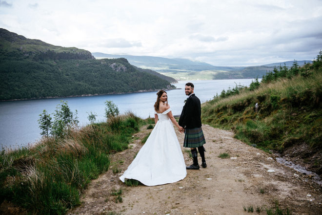 Featured Image for Rustic floral wedding at The Lodge at Carrick Castle Estate, Lochgoilhead