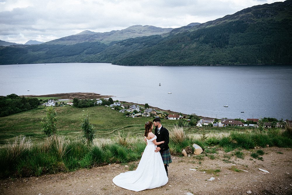 couple shot - Carrick Castle Estate wedding