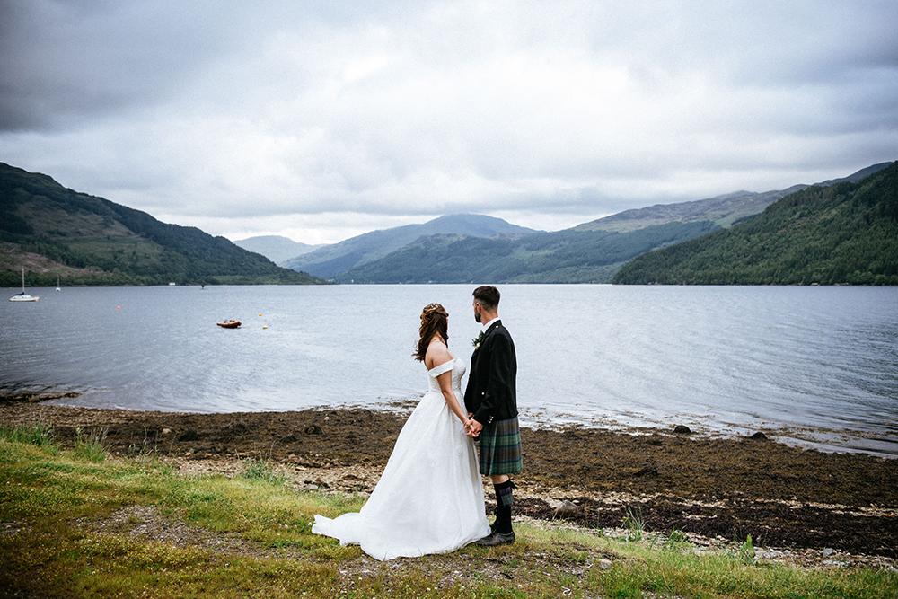 couple shots - The Lodge at Carrick Castle Estate wedding