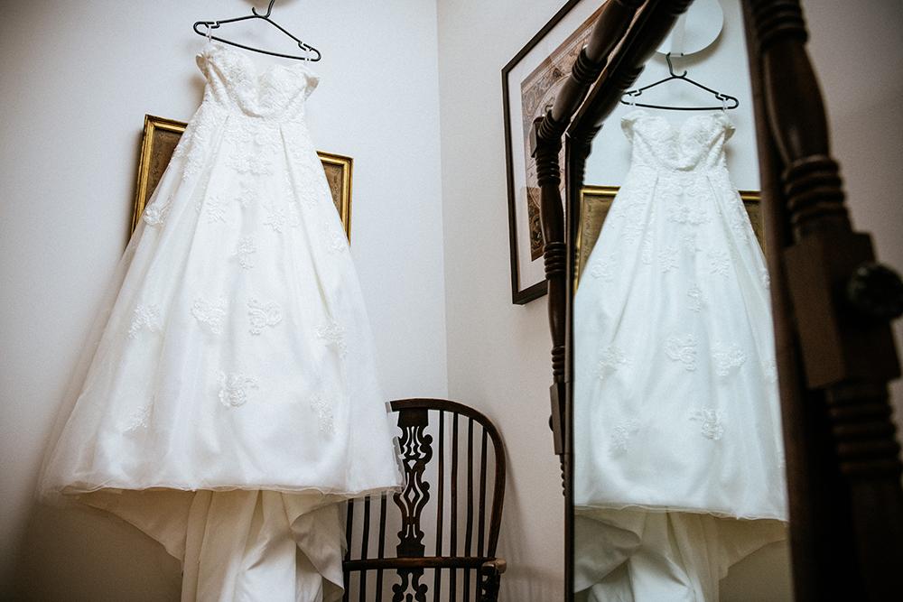 dress - The Lodge at Carrick Castle Estate wedding