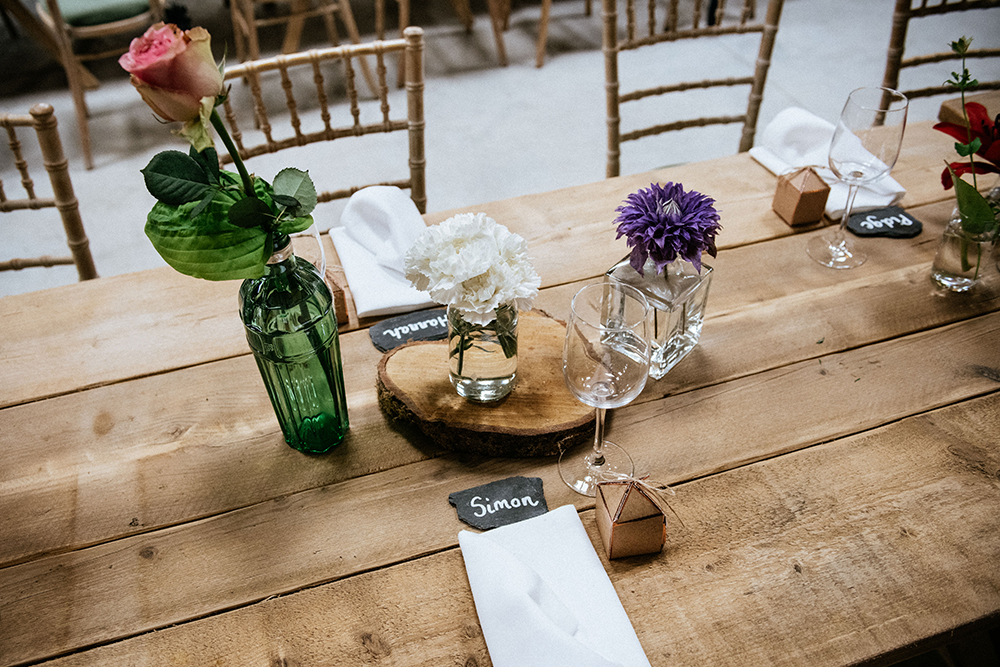 decor - The Lodge at Carrick Castle Estate wedding