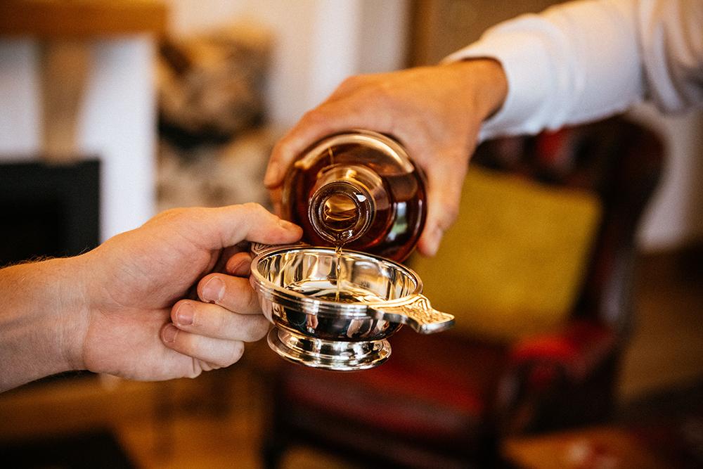 groom prep - The Lodge at Carrick Castle Estate wedding