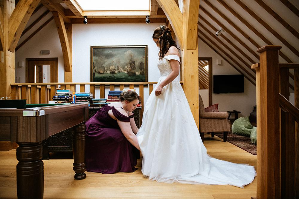 bridal prep - The Lodge at Carrick Castle Estate wedding