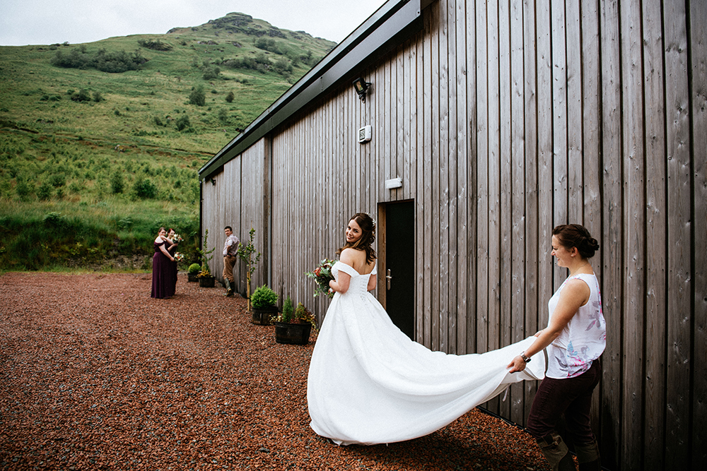 The Lodge at Carrick Castle Estate wedding