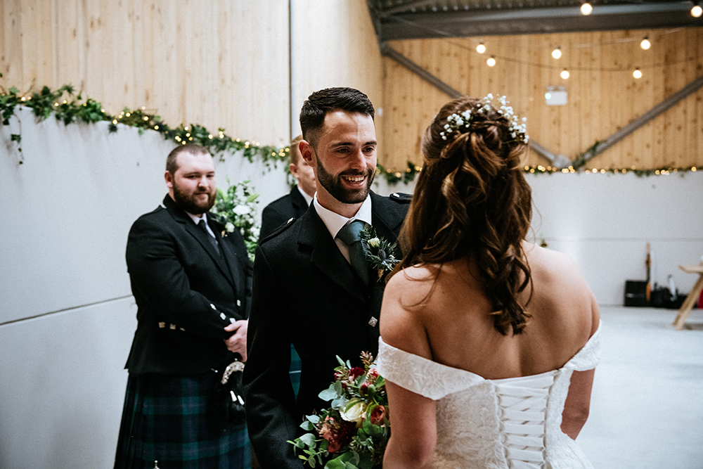 ceremony - The Lodge at Carrick Castle Estate wedding
