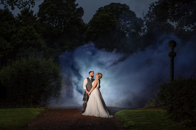 Featured Image for Relaxed wedding with moss-inspired decor at Kirknewton House Stables, Edinburgh