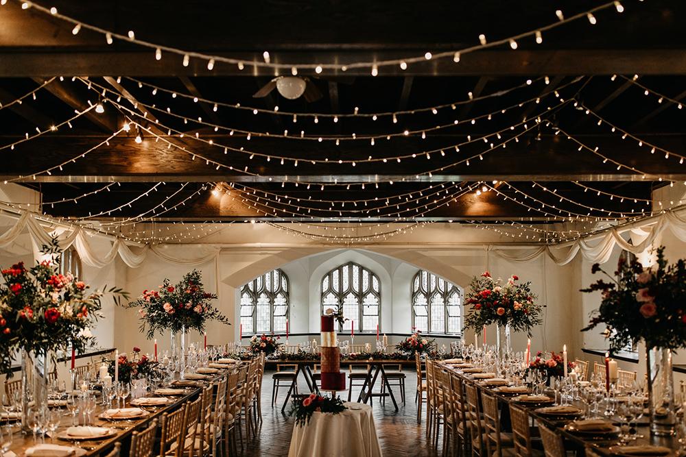 wedding reception set-up - Cluny Castle
