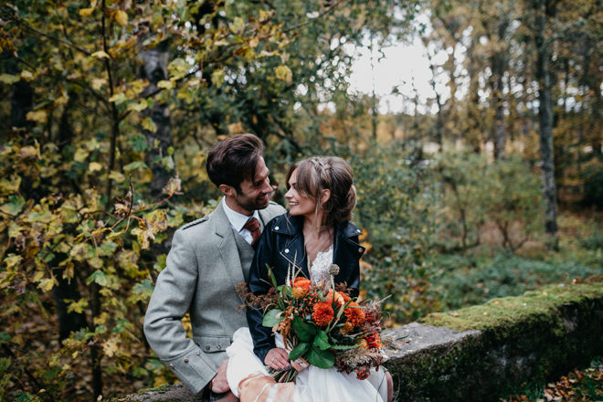Featured Image for DIY autumnal + celestial inspired wedding day at Coos Cathedral, Aberdeenshire
