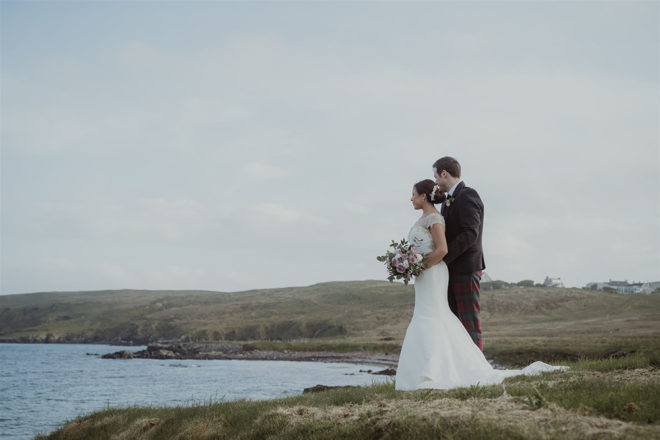 Featured Image for A rustic marquee wedding with foliage touches at Bayble Beach, Isle of Lewis