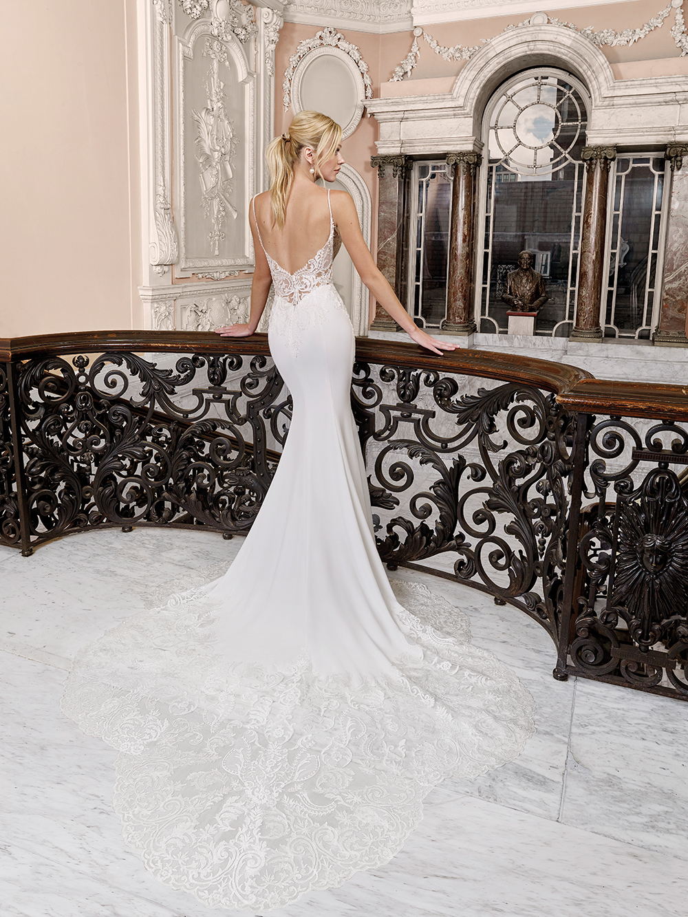 Ellis Bridals fit-and-flare gown
