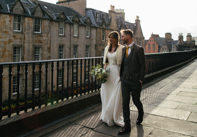 Featured Image for Intimate cityscape wedding at Riddle's Court, Edinburgh