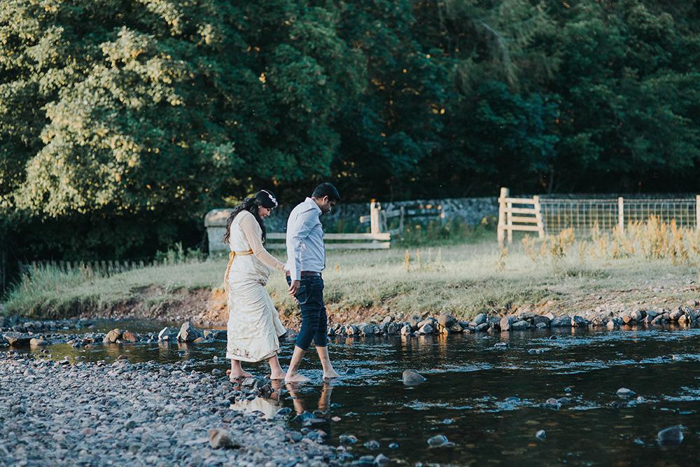 couple in river - Iris Art Photography
