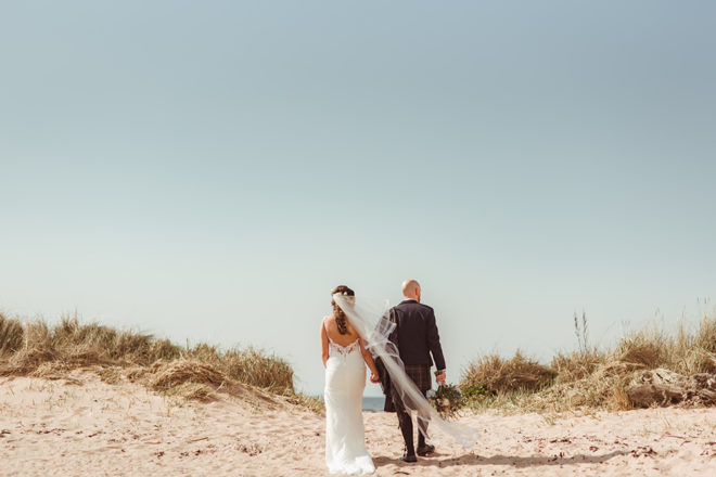 Featured Image for Summery beach-inspired wedding at The Waterside Hotel, West Kilbride