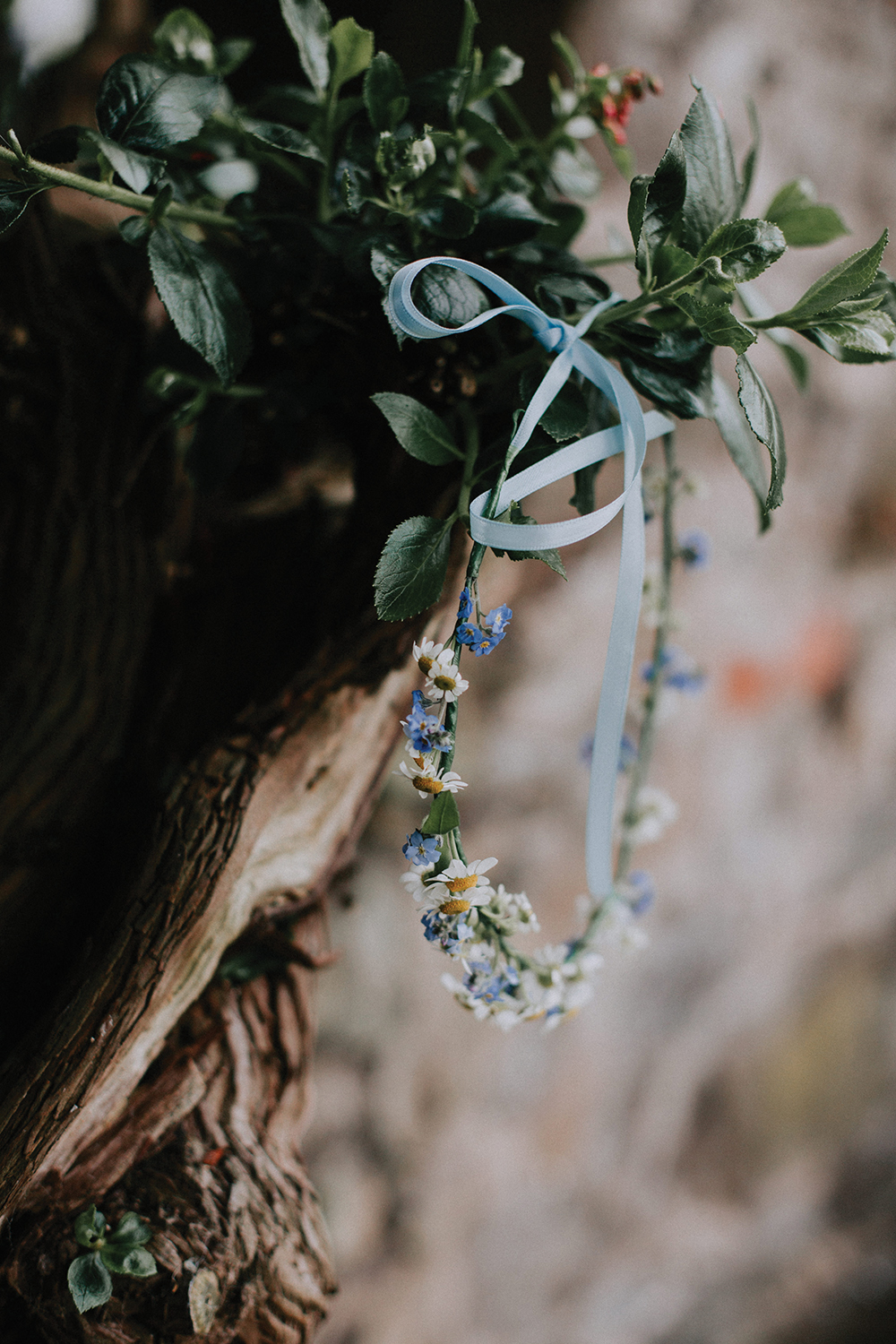flower crown - In the Name of Love Photography wedding at The Rhynd