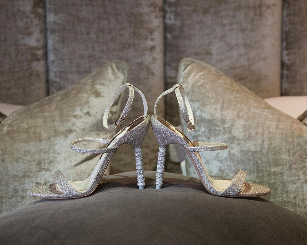 Sophia Webster shoes - Julie Lamont wedding at Carlowrie Castle