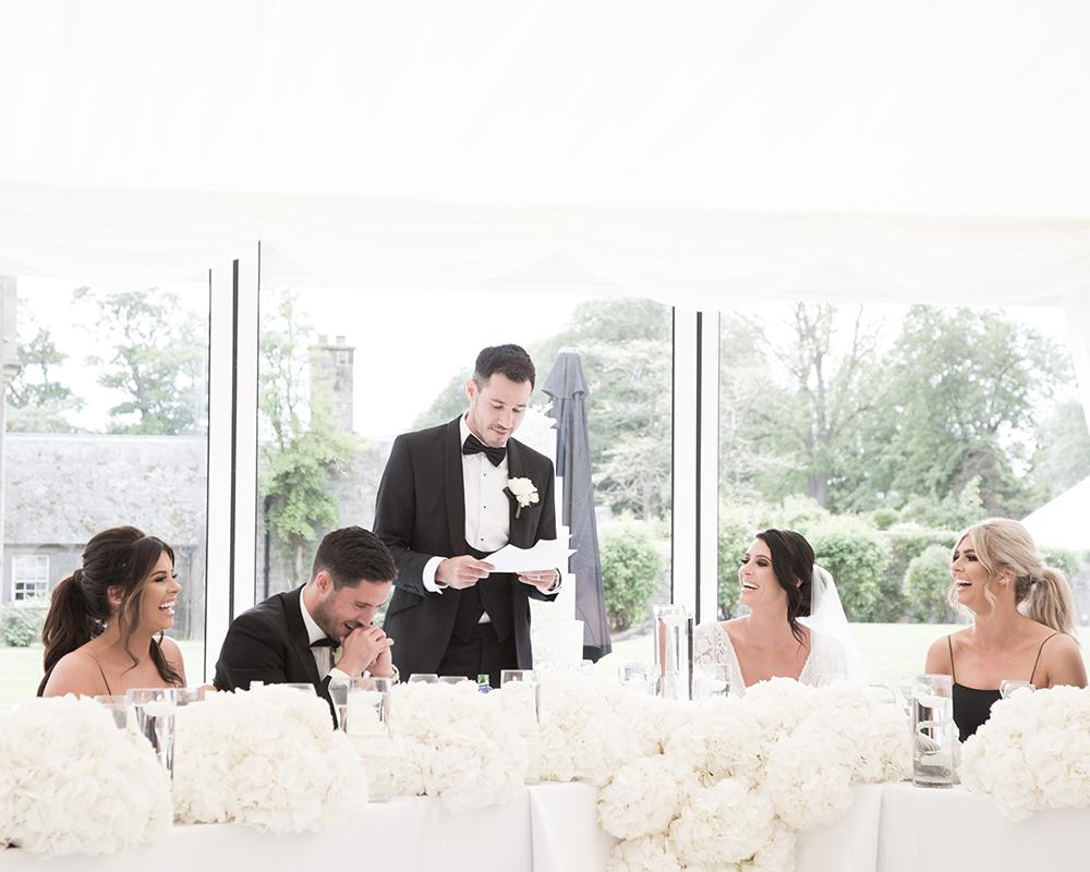 speeches - Julie Lamont wedding at Carlowrie Castle