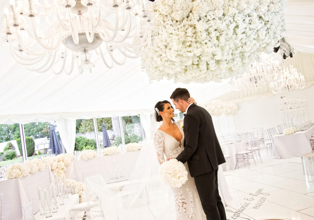 Featured Image for Footballer Ryan McGowan and wife Stephanie's glamorous wedding at Carlowrie Castle