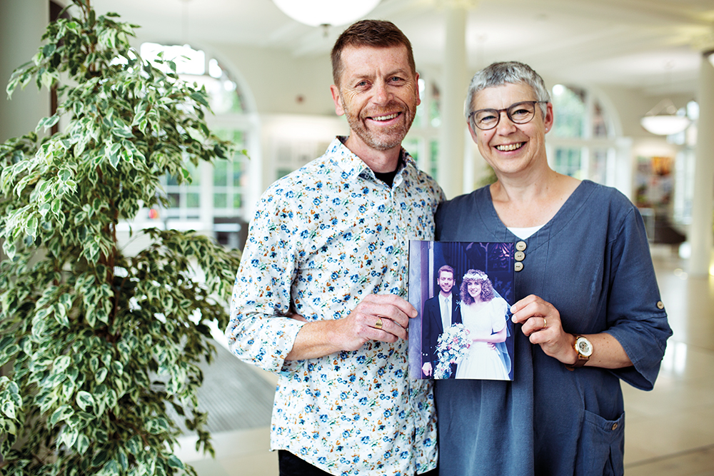 Ross and Terry McCallum - with wedding photo