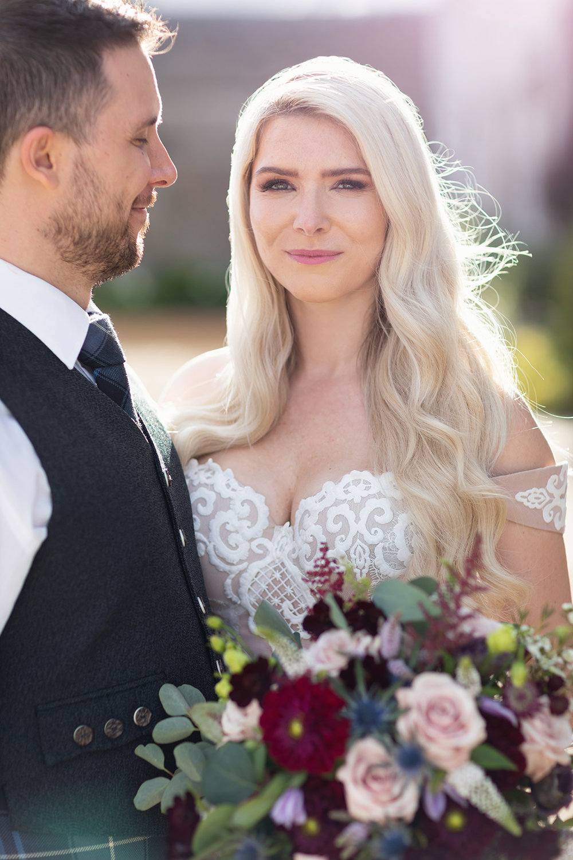 Craig Eva Sanders Real Wedding Dundas Castle