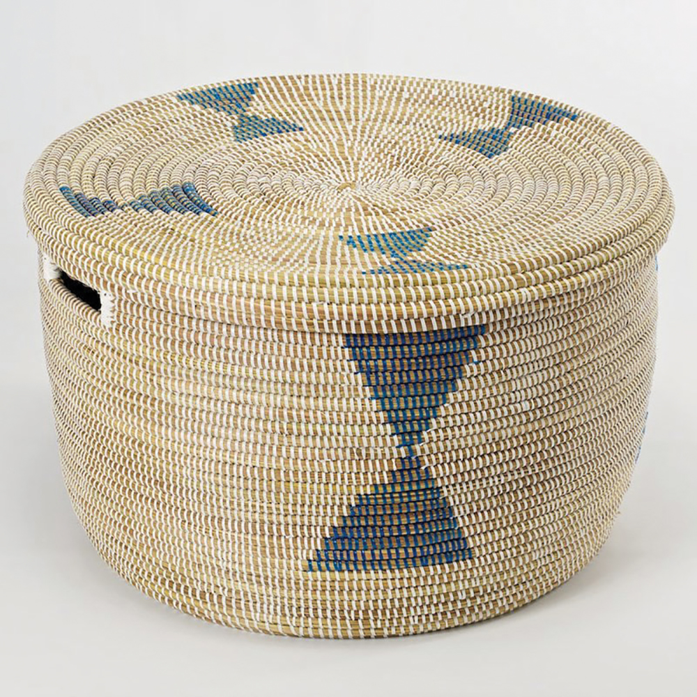Artisanne - African blue diamonds storage basket