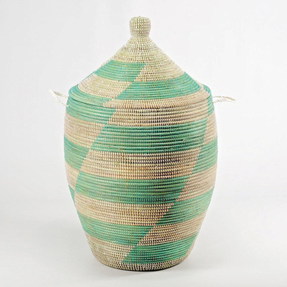 Ali Baba mint laundry basket from Artisanne