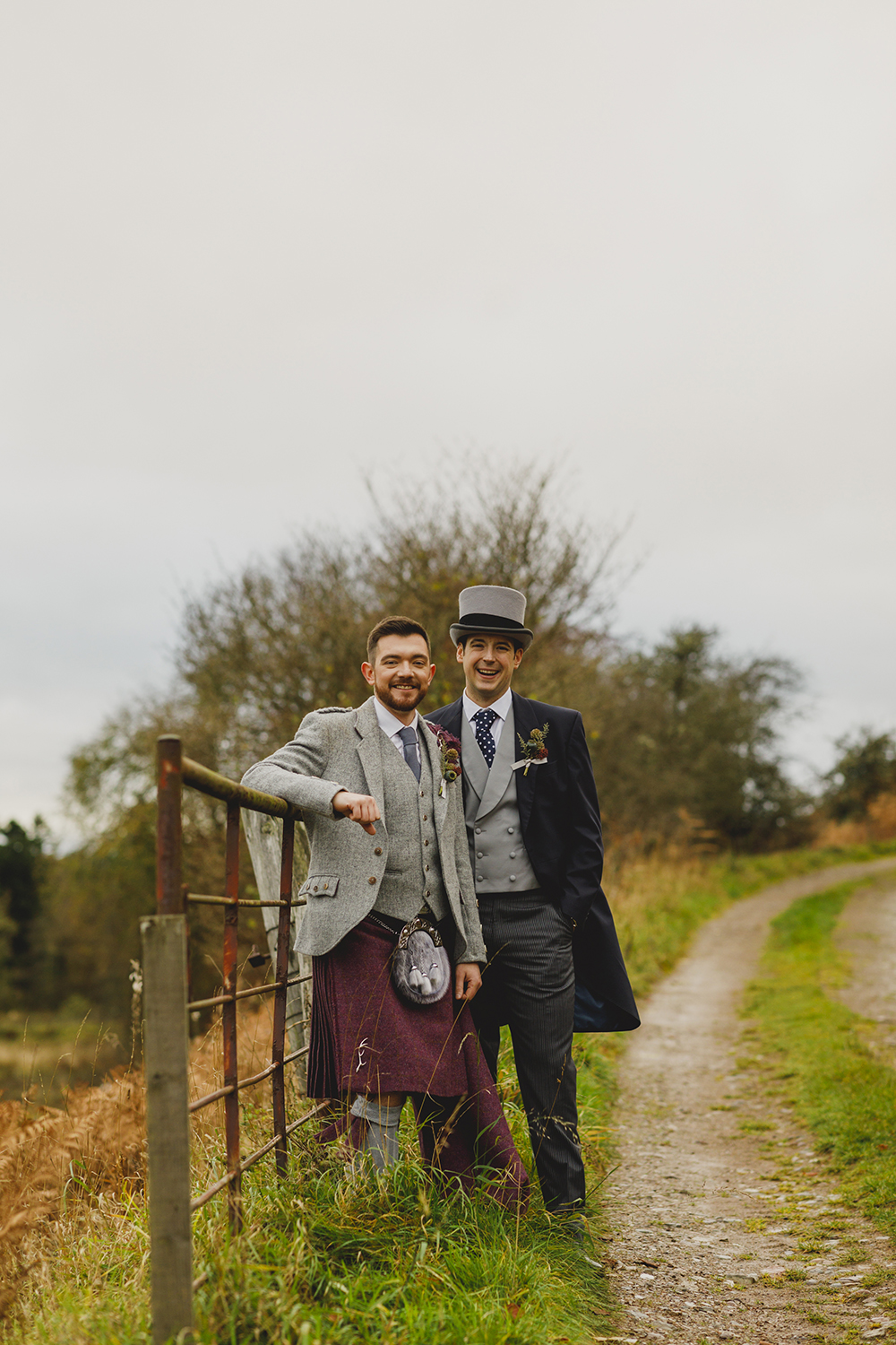 couple shots - autumnal wedding at Drumtochty Castle by Duke Wedding Photography