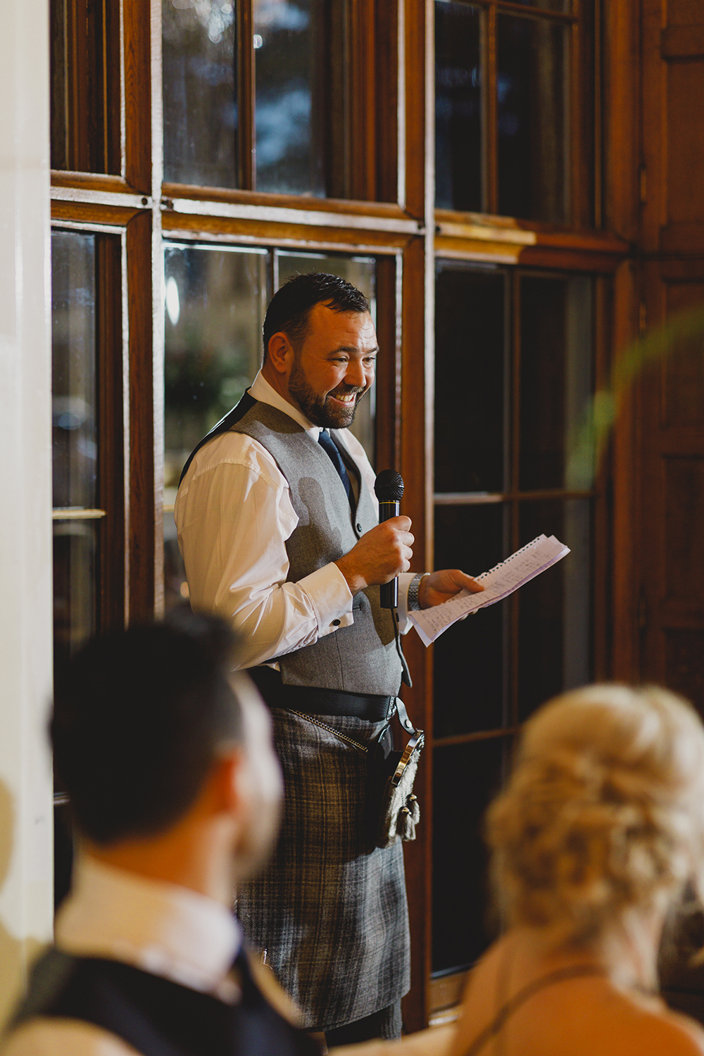 reception - Drumtochty Castle autumnal wedding by Duke Wedding Photography