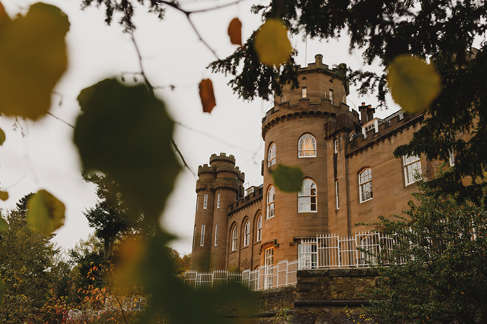 Drumtochty Castle autumnal wedding by Duke Wedding Photography