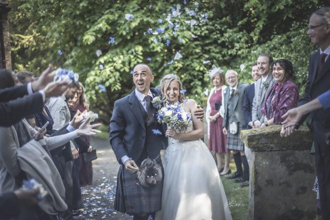 Featured Image for Elegant blue + white themed wedding at Glencorse House, Edinburgh