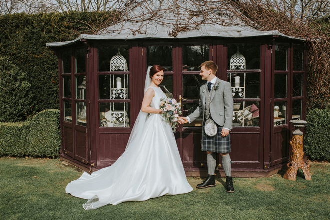 Featured Image for Intimate Edinburgh wedding with two venues + a foodie focus