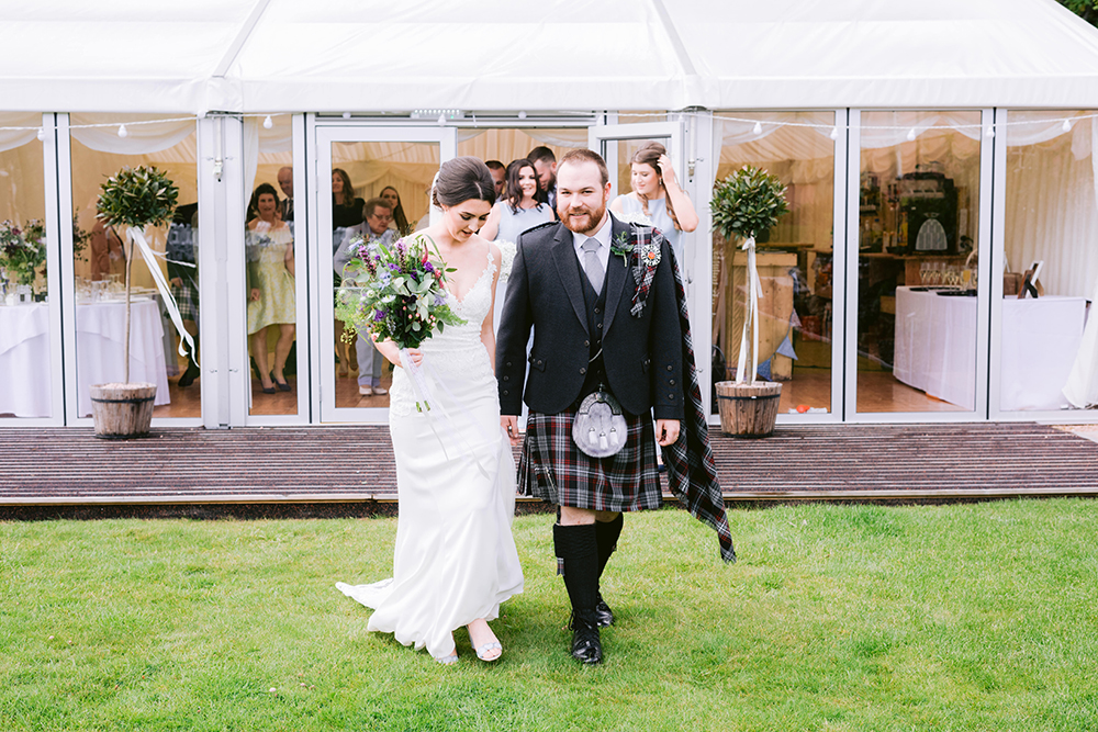 ceremony - James Kelly wedding at Ballogie House