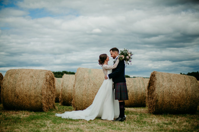 Featured Image for Rustic chic wedding with mauve + lilac tones at Bachilton Barn, Perthshire