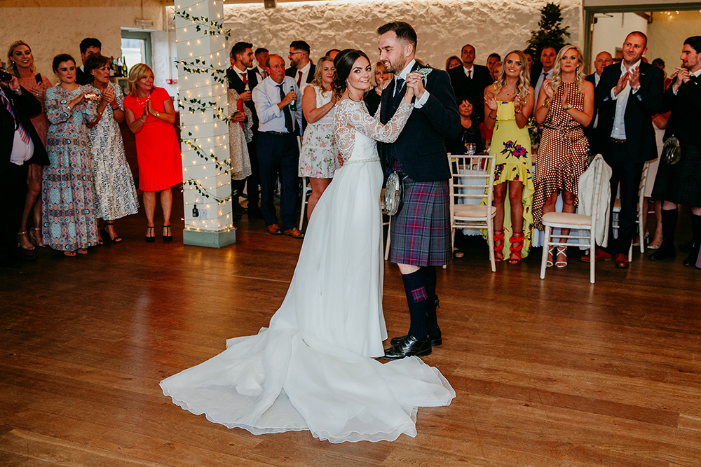 first dance - Francis J Smith at Bachilton Barn wedding