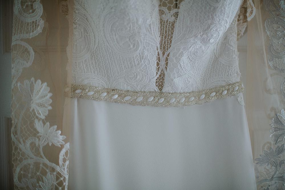 dress - Francis J Smith Bachilton Barn wedding