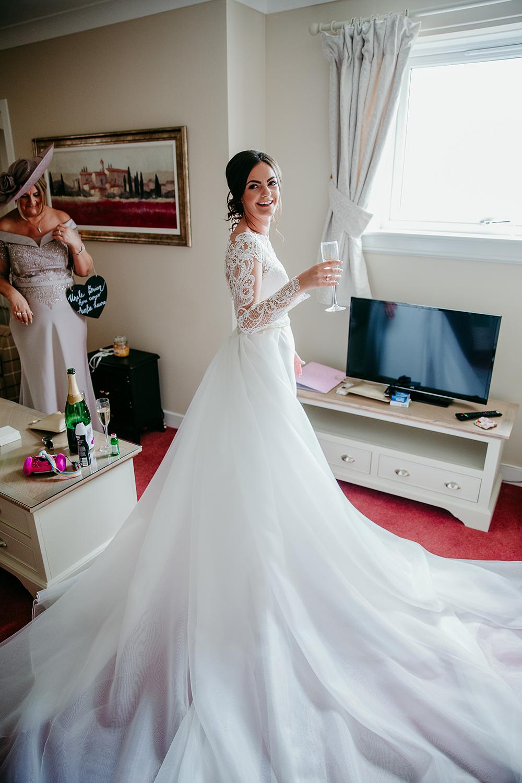 getting ready - Francis J Smith at Bachilton Barn wedding