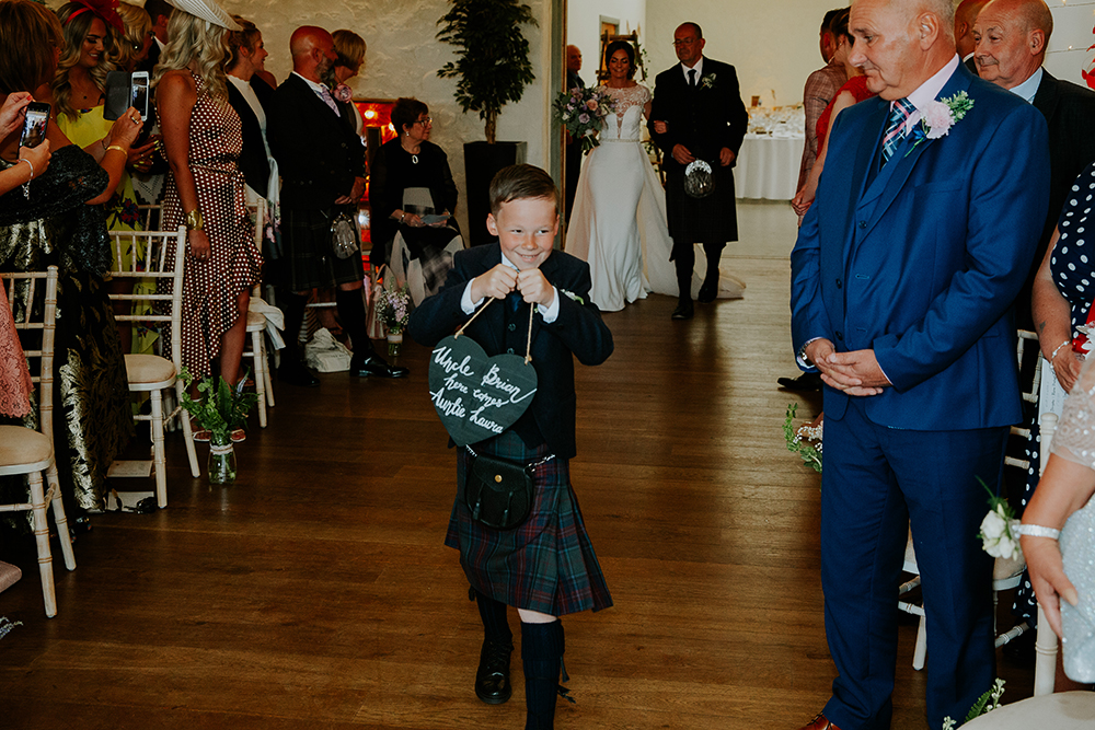 ceremony - Francis J Smith at Bachilton Barn wedding