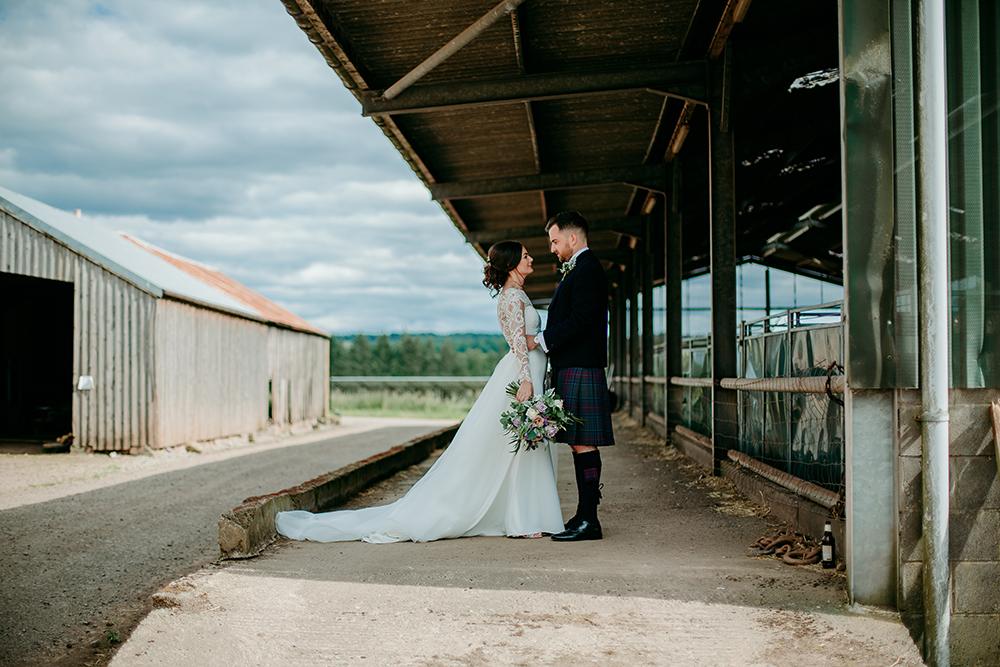 couple shots - Francis J Smith at Bachilton Barn wedding