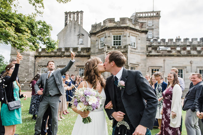 Featured Image for Fun filled wedding weekend at Winton Castle, East Lothian