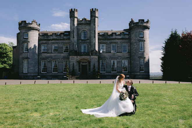 Featured Image for Fairytale wedding with amazing reception party at Airth Castle Hotel, Stirling