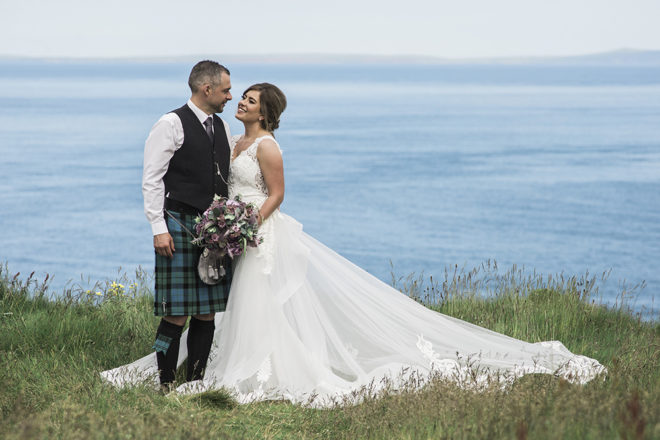 Featured Image for Beautiful outdoor wedding ceremony at Dunnet Head Lighthouse, Caithness