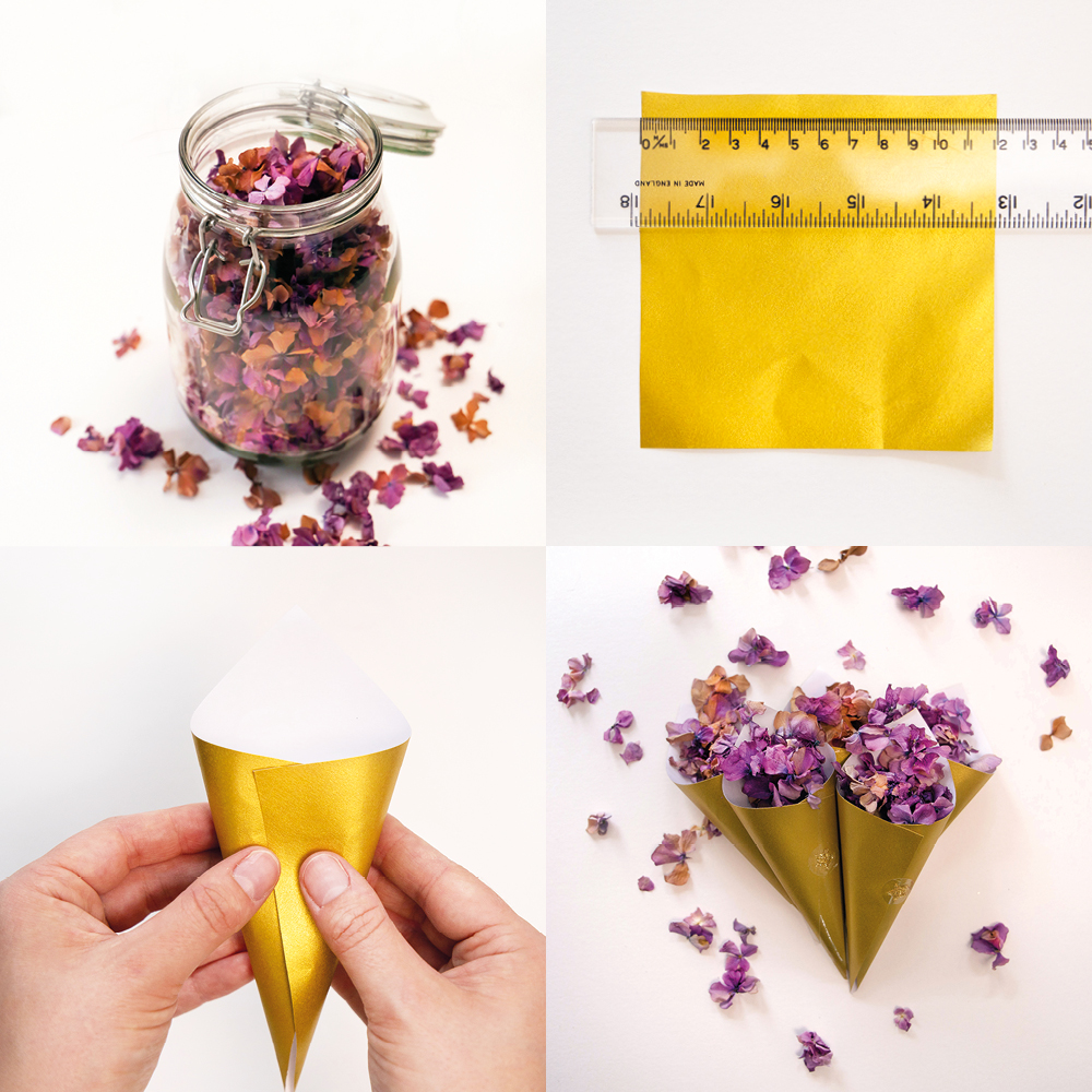 Lindsay makes dried flower confetti - steps five to eight