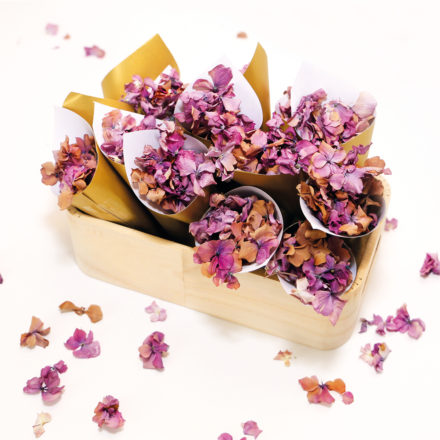 Featured Image for How to make your own dried flower confetti