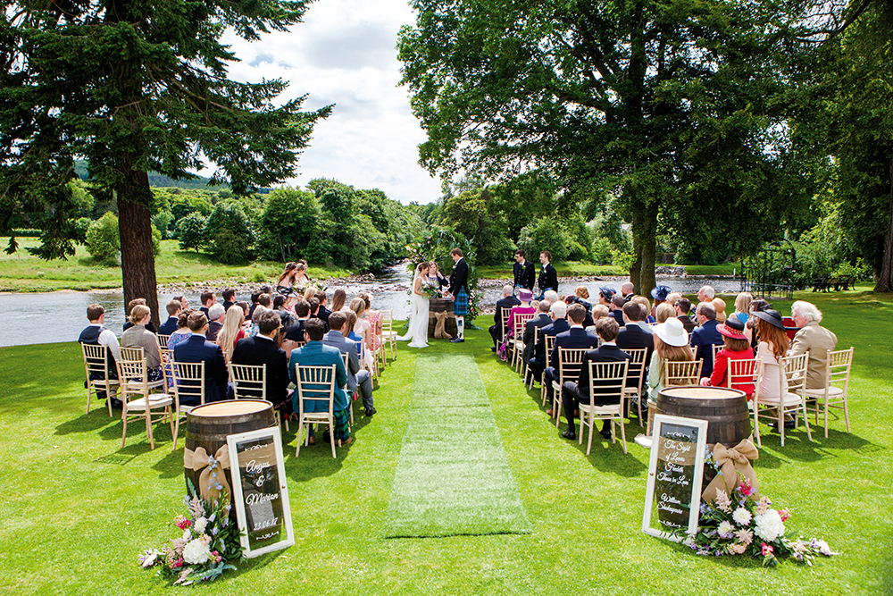 Banchory Lodge - outdoor ceremony - Archibald Photography